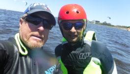 kiteboarding lessons with Joe